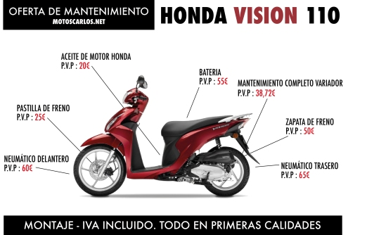 MANTENIMIENTO HONDA VISION 110