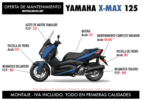 Mantenmiento X-MAX